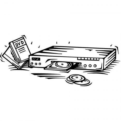 Dibujo para pintar de un reproductor de DVD