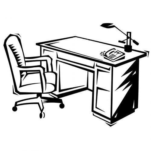 Dibujo para imprimir y colorear de un escritorio