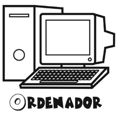 Dibujo de un ordenador para colorear - Dibujos para colorear de ...