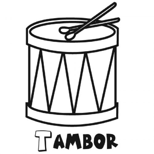 Dibujo para colorear de un tambor - Dibujos para colorear de ...