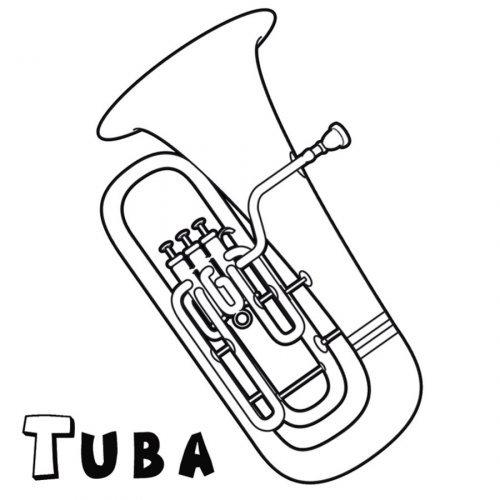 Dibujo para imprimir y colorear de una tuba - Dibujos para ...