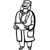 Dibujo de un médico para colorear