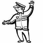 Dibujo de un policía para imprimir y colorear