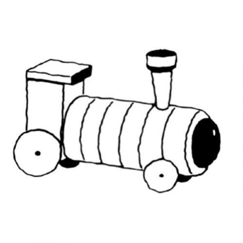 Dibujo para pintar de un tren de juguete