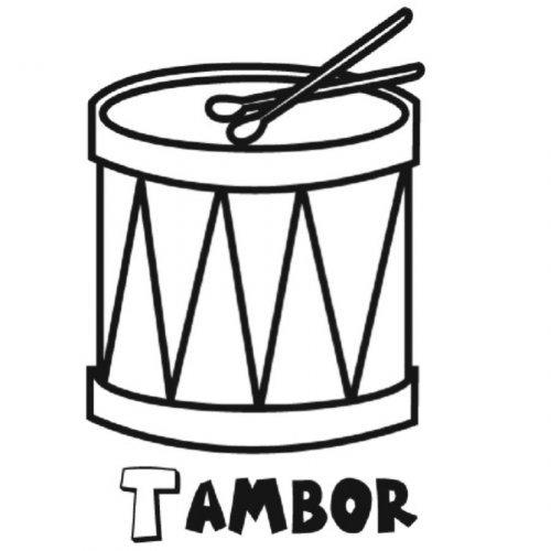 Coloreando nuestros dibujos  1092-4-dibujo-de-un-tambor-para-colorear