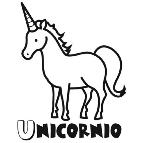 Dibujo para colorear de un unicornio - Dibujos para colorear de ...
