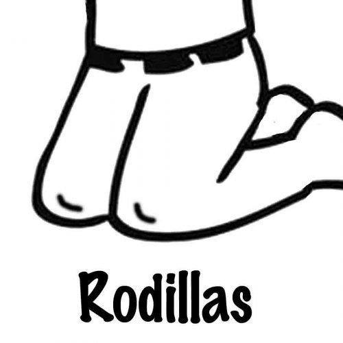 Dibujo para pintar de unas rodillas - Dibujos para colorear de ...