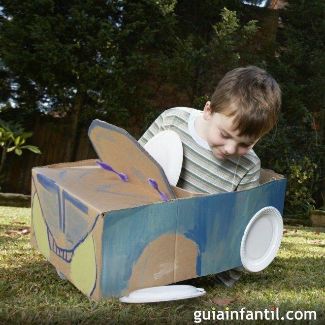 Un coche divertido para los niños - Juegos para niños con cajas de ...