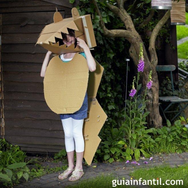 disfraz de cocodrilo para los niños - Juegos para niños con cajas de