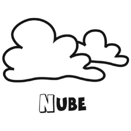 Dibujo para colorear de unas nubes - Dibujos para colorear del ...