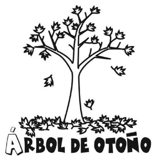 Dibujo de la estación de otoño para imprimir y pintar