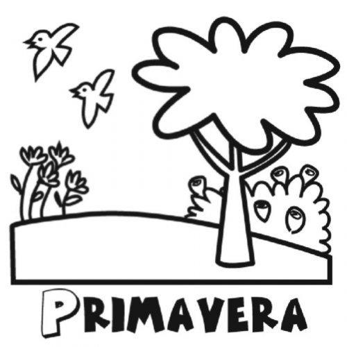 Dibujo de la estación de primavera para colorear - Dibujos para ...