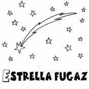 Dibujo para pintar de una estrella fugaz