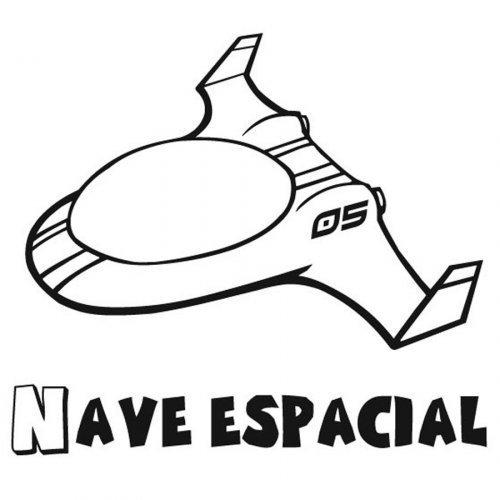 Dibujo para pintar de una nave espacial - Dibujos para colorear ...