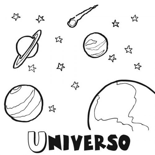 de los planetas - Dibujos para colorear del espacio y el universo