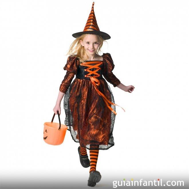 Disfraz de Bruja para niñas en Halloween