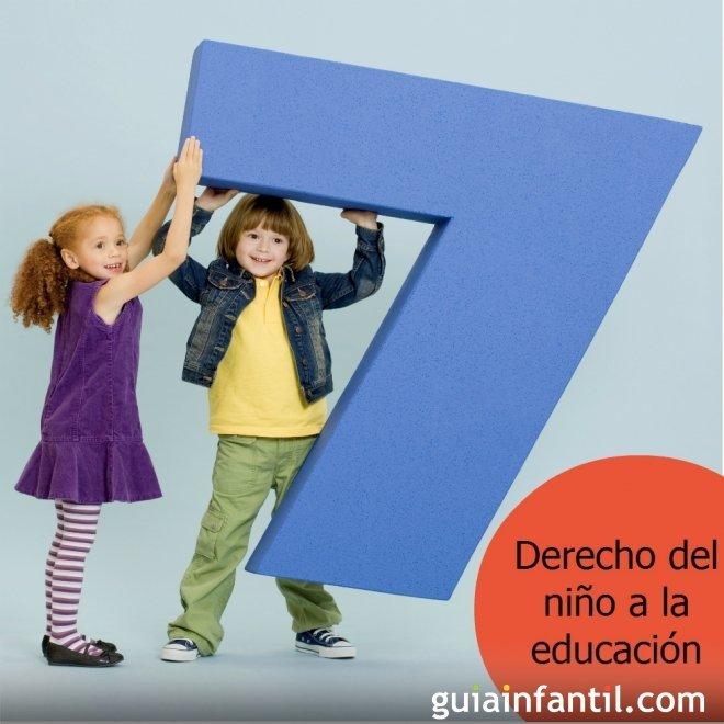 Los niños tienen derecho a la educación