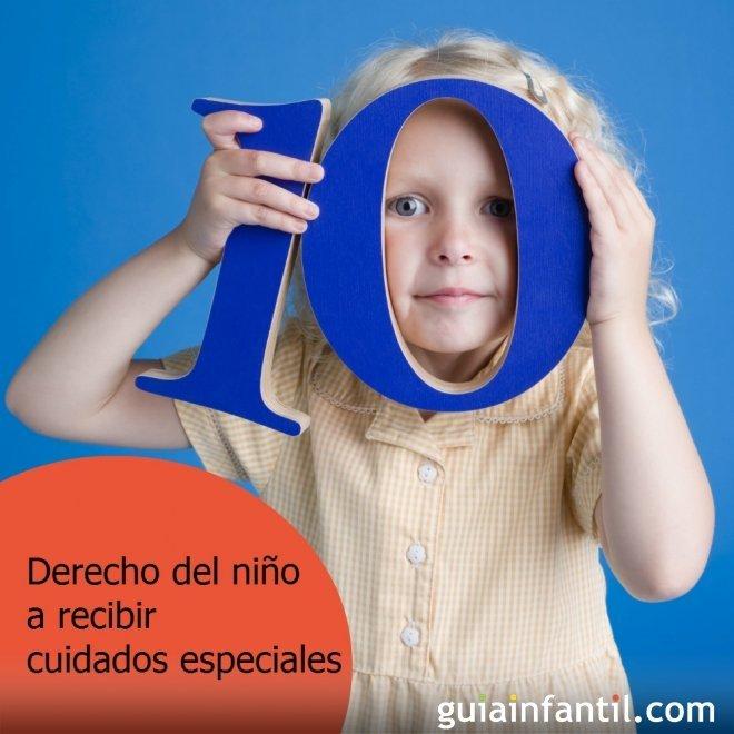 Los niños tienen derecho a cuidados especiales