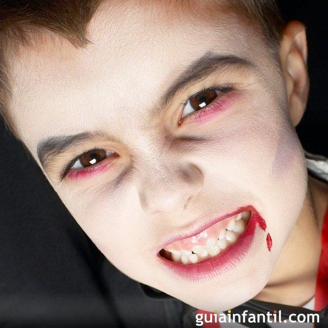 Maquillaje de Drácula para Halloween