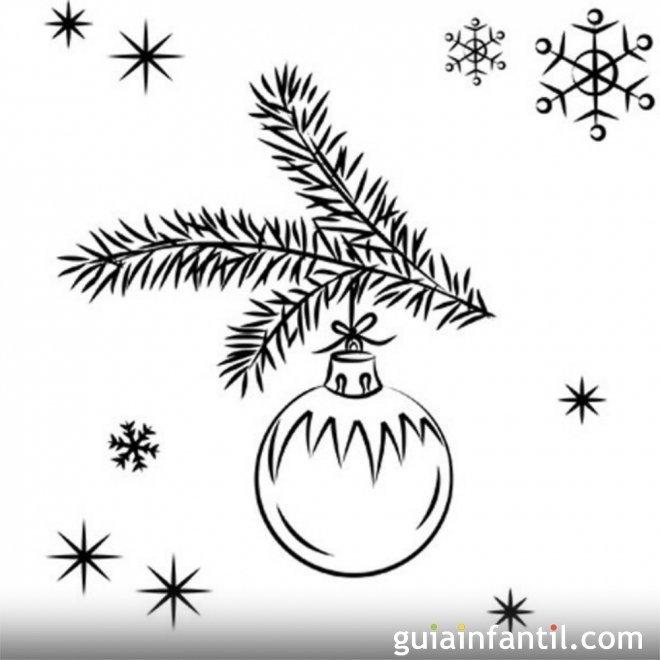 Dibujo de navidad para ni os bola navide a dibujos para - Bolas de navidad para ninos ...