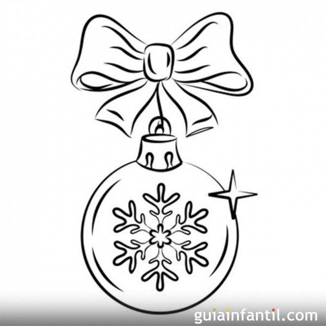 Dibujos navide os bola de navidad para colorear dibujos for Dibujos de navidad bolas