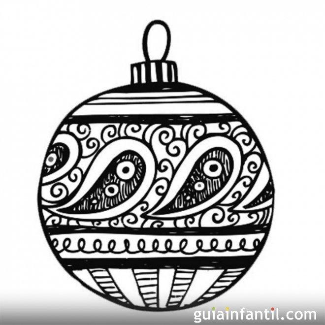 Bola de navidad para colorear dibujos para ni os - Bolas de navidad para ninos ...