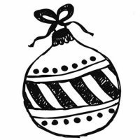 Bola navideña para recortar y pintar para niños