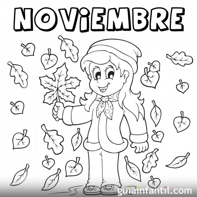 Mes de noviembre de 2015 para colorear