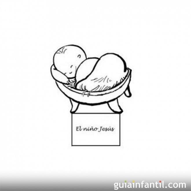 Dibujo del niño Jesús para recortar y colorear - Dibujos para ...