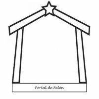 Dibujo del Portal de Belén para colorear