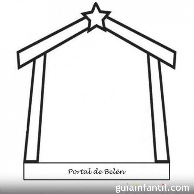 Dibujo del Portal de Belén para colorear - Dibujos para ...