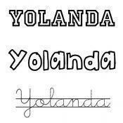 Yolanda. Nombres de santo para niñas