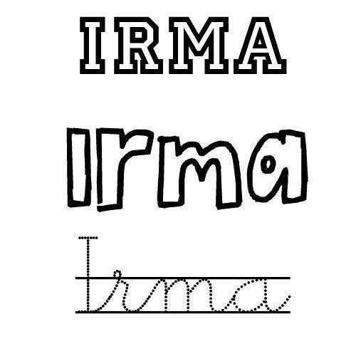 Irma. Nombre de santo para niñas