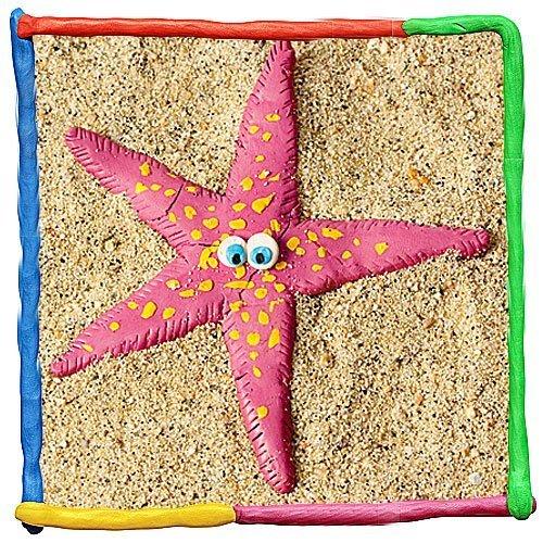 Estrella de mar de plastilina