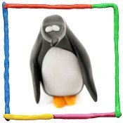 Pingüino de plastilina para niños