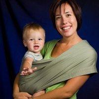 Bandolera de tela: portabebés
