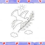 Paloma de la Paz. Imágenes para pintar con niños