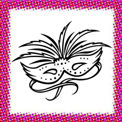 Máscara de Carnaval. Dibujos de disfraces para niños