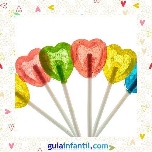 Piruletas de colores. Recetas dulces de corazón