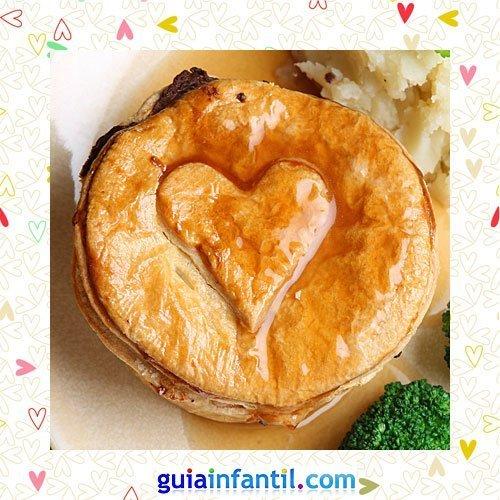 Empanada de carne. Recetas saladas de corazón