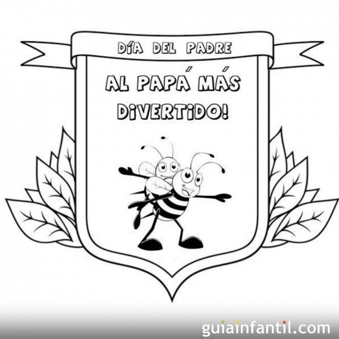 Felicidades papá  1741-4-medalla-al-padre-mas-divertido-dibujos-para-pintar