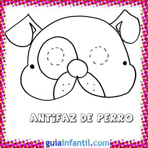 Antifaz de perro. Dibujos de Carnaval para niños