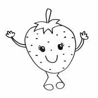 Imagen de una fresa. Dibujos para colorear con niños