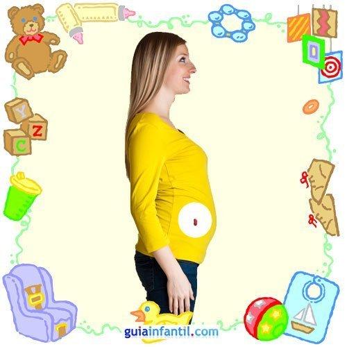 Tu bebé en con frutas y verduras. Segundo mes de embarazo