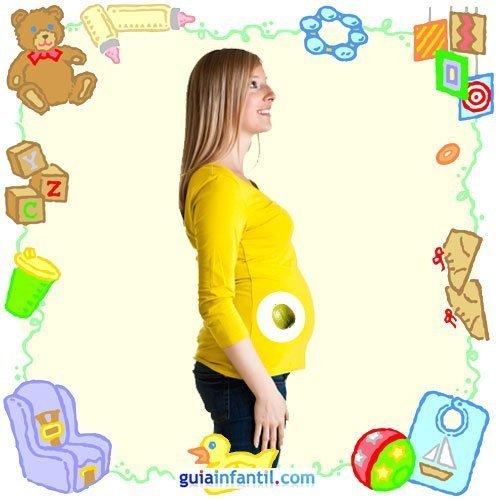Tu bebé en con frutas y verduras. Tercer mes de embarazo