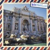 Fontana de Trevi. Viajar a Roma con los niños