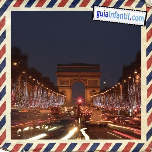 Arco del Triunfo y los Campos Eliseos. Viajar a París con los niños