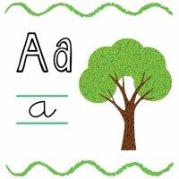 La letra A. Fichas con el abecedario para niños