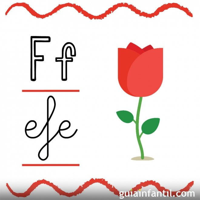 Letra f fichas con el abecedario para ni os fichas con - Literas pequenas para ninos ...