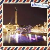 Trafalgar Square. Viajar a Londres con los niños